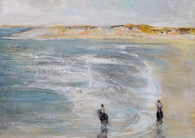 L'écume sur la plage