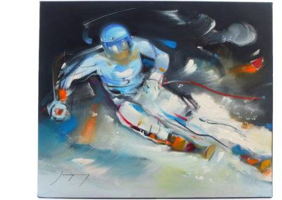 ski-neige-vitesse-mouvement-jaureguy-tableau-peintre