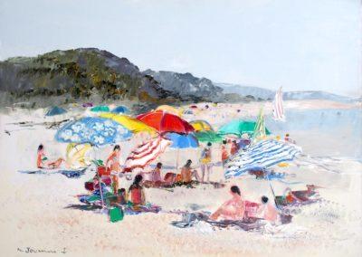 plage-colore-jouenne-mediterranée-tableau-peintre