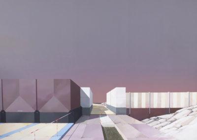 leproust-architecture-peinture-oeuvre-geométrie-hyper-realisme