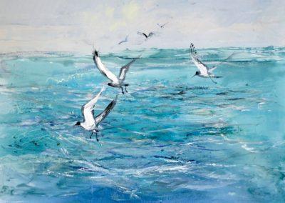 tableau-jouenne-ocean-oiseaux-tableau-peintre